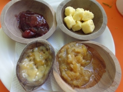 Yummy breakfast jams at Satao Camp in Tsavo East National Park